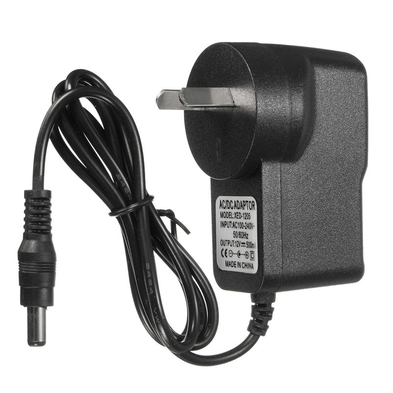 AU Plug Power Supply Adapter AC100-240V DC 12V 0.5A AU Standard Power Conversion Adapter 500mA LED i