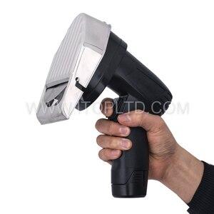 Image 5 - Лидер продаж Беспроводной слайсер для кебаба с Батарея шаурма Донер Ножи Турция Электрический Гироскопы Разделки мяса Еда машина 110V 220V