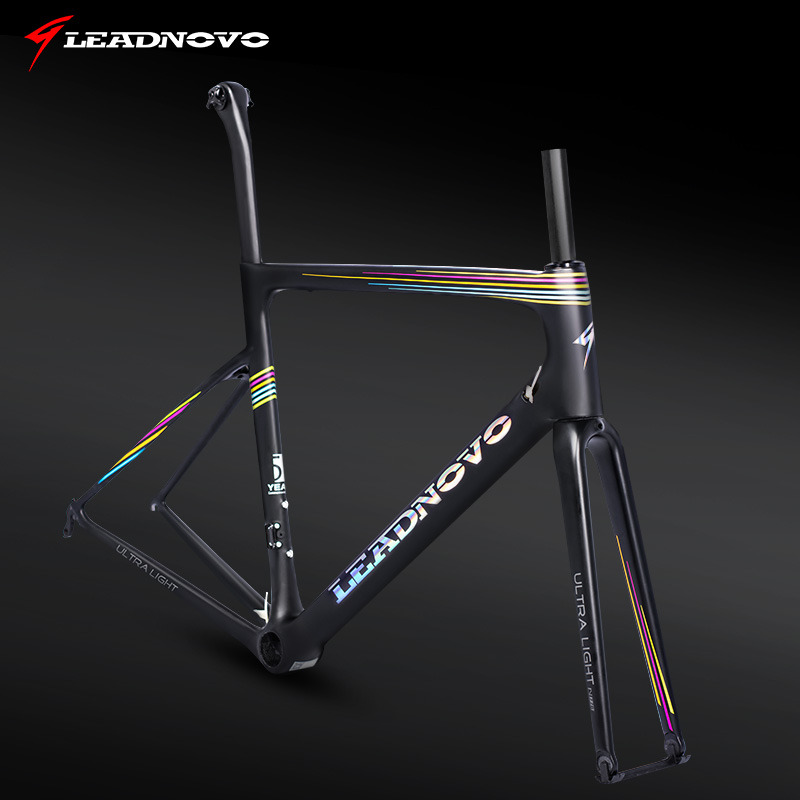 Rainbow lightweight Road carbon Bike frame UD Full carbon fiber frameset PF30/BB68/BB30 bicycle frame part can customized paint