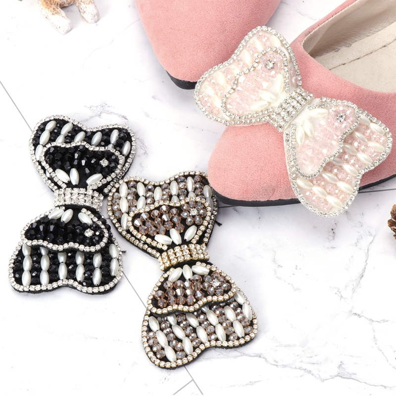 все цены на EYKOSI Shoe Clip Shoe Decoration Beads Bowknot Fashion Elegant Bags Charms DIY High Heels Shoe Clips Accessories онлайн