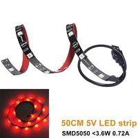 USB 5 V 5050 Kolor Czerwony LED Elastyczna Listwa Światła Kit TV Oświetlenie tła Z Mini Kontroler Dla TV PC Laptop Stronniczości Oświetlenie