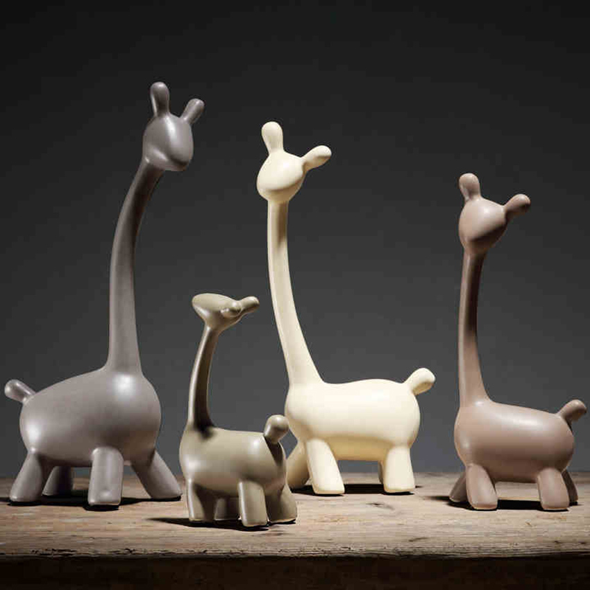 High quality Creative A family deer Wedding gift Ceramic arts and crafts sitting room decor TVark