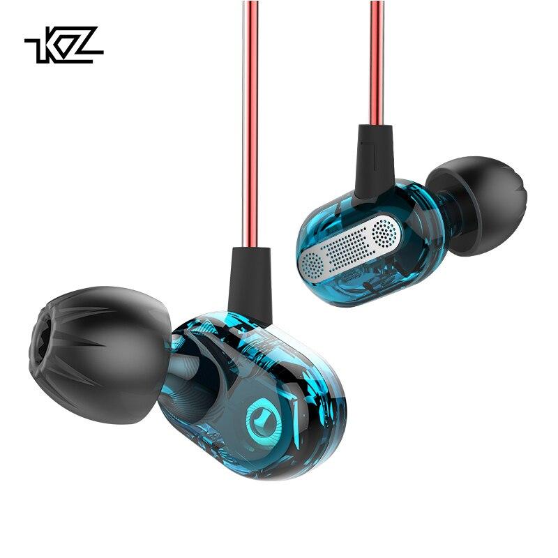 Professioneller Verkauf Kz Zse Spezielle Dynamische Dual Fahrer Kopfhörer In Ohr Gaming Headset Audio Monitore Kopfhörer Hifi Musik Sport Blau Ohrhörer Erfrischung Ohrhörer Und Kopfhörer