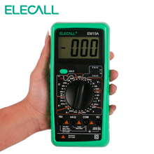 ELECALL  Digital Multimeter EM15A 2000 Counts Handheld Customized Multimeter LCD Display AC/DC Current Testing