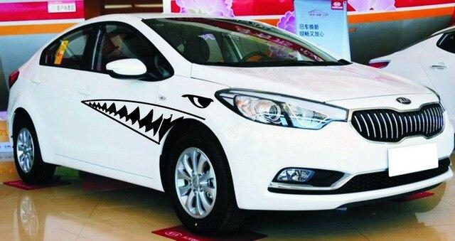 Aparador Line Branco Laqueado ~ Adesivos de carro carro individualidade adesivo diy adesivo guirlanda branco boca de tubar u00e3o