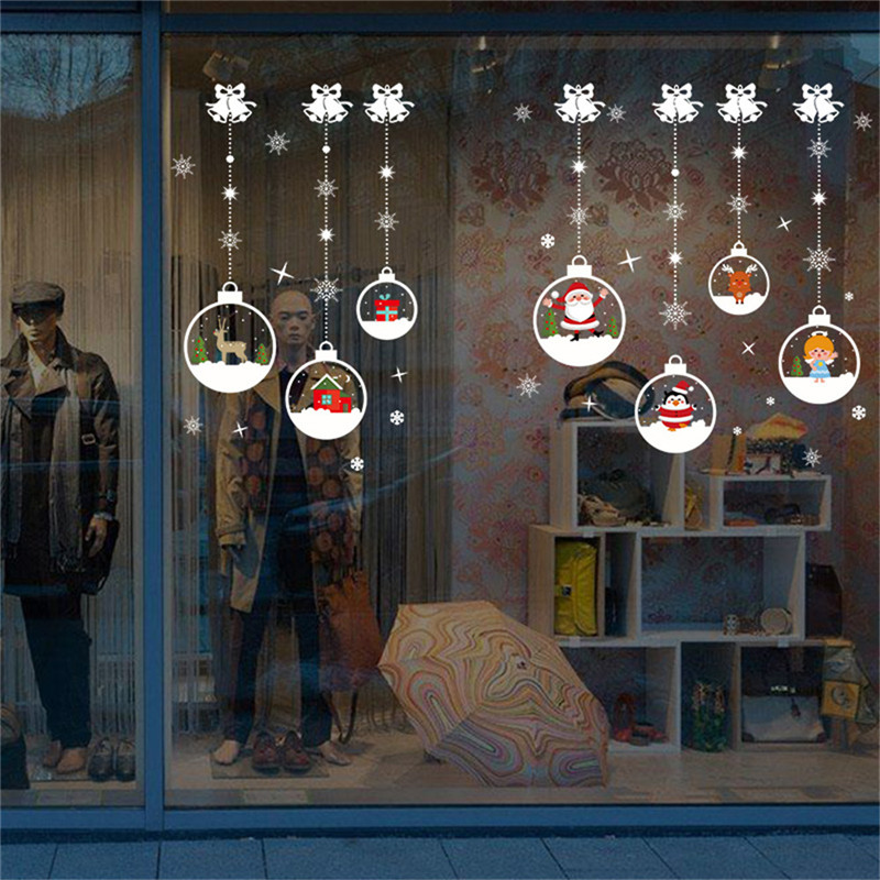 Christmas Decorations For Home Windows: Home Decor Christmas Window Stickers Self Adhesive Hanging
