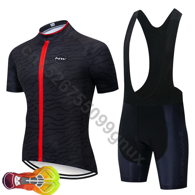 Summer Pro Nw Men Cycling Jersey Breathable Mountain Bike Clothing Quick-dry Racing Bicycle Clothes Shirt Bib Shorts 16d Buy One Give One Cycling Sets