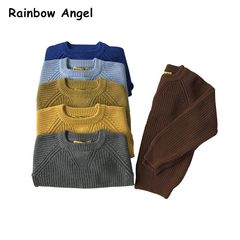 Autumn Winter Boys Sweaters Soft Warm Wool Knitting Sweater Pullover For Boys Kids Outwear Children Clothes Boys Tops 7 Color children autumn and winter warm clothes boys and girls thick cashmere sweaters
