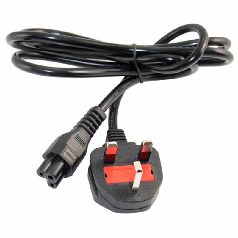 W wielkiej brytanii singapur malezja przedłużacz kabel brytyjski kabel przewodzący przewód wielkiej brytanii wtyczka do IEC320 C5 na Laptop ładowarka LCD TV 1.5M 5ft