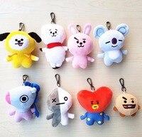 8pcs Lot Kpop Home Bangtan Boys BTS Bt2 Vapp Toys Keychain Q Version Plush Doll TATA
