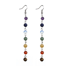 7 Stone Bead Earrings