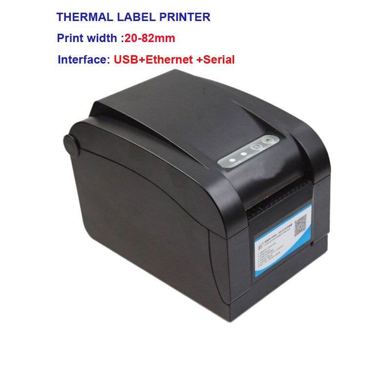Haute qualité code à barres Thermique pritner stitker imprimante avec USB + Ethernet + interface Série papier largeur 16mm-82mm imprimante d'étiquettes