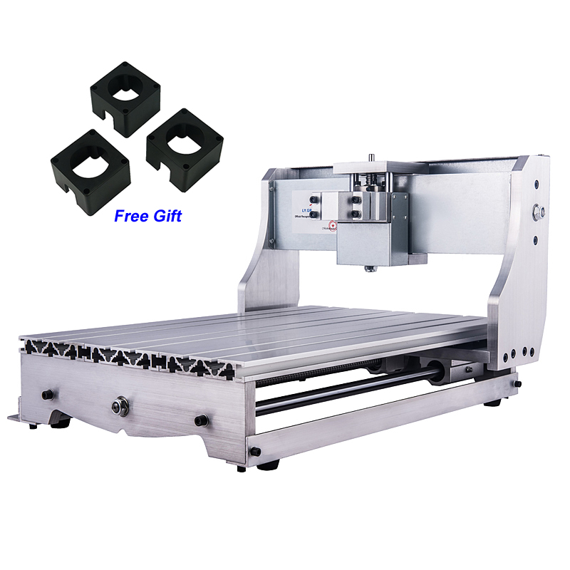 Cnc 3040 Router Mini Draaibank Bed Cnc Machines Frame Kit Met 3 Stks Stappenmotor Beugel Exquise Vakmanschap;