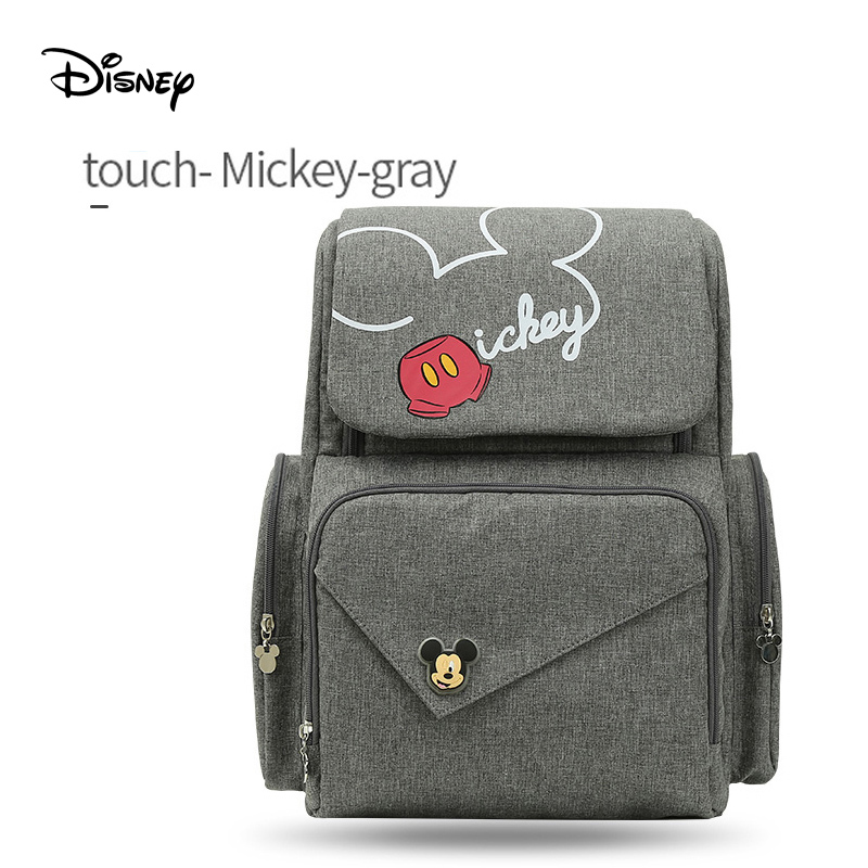 Disney sacchetto del pannolino usb mickey mouse sacchetto Della Chiusura Lampo Multi-funzionale borsa materna e infantile zaino wetbag sacchetto della mummia zaino