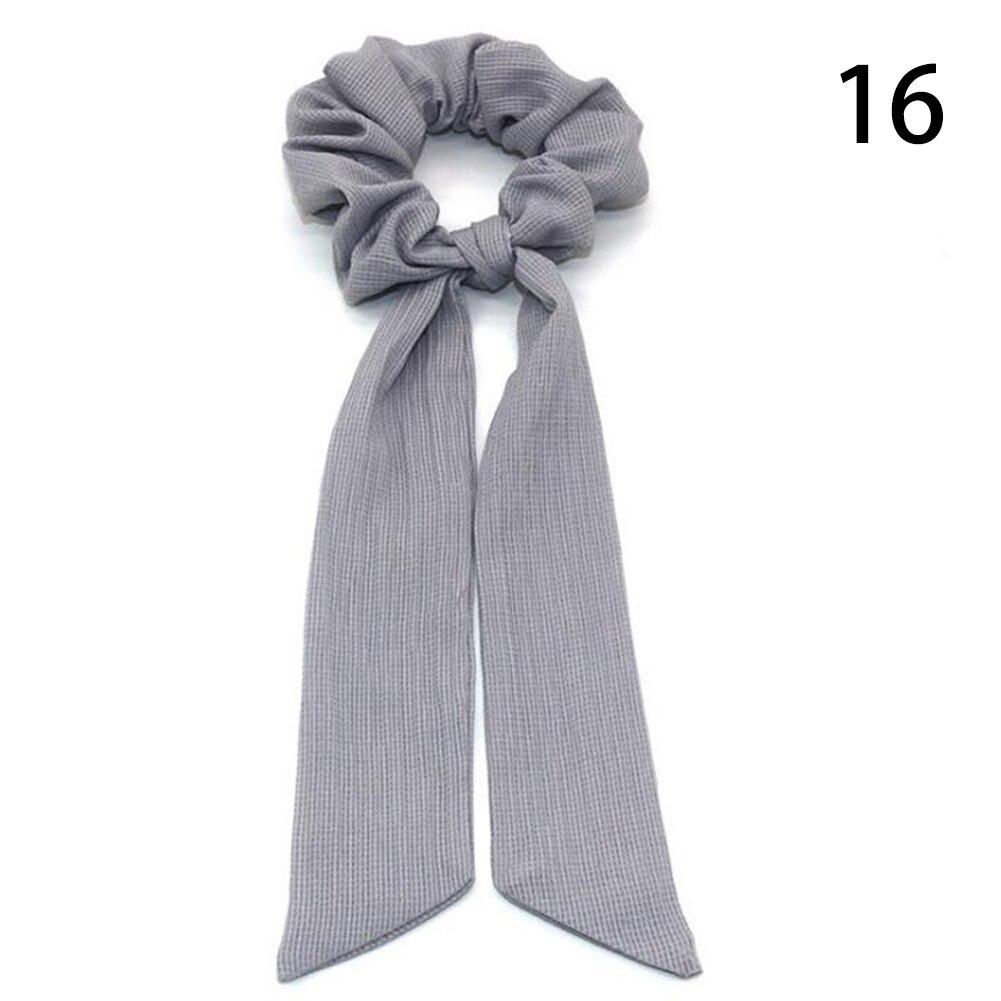 Богемные резинки для волос в горошек с цветочным принтом и бантом, женские эластичные резинки для волос, повязка-шарф, резинки для волос, аксессуары для волос для девочек - Цвет: 16