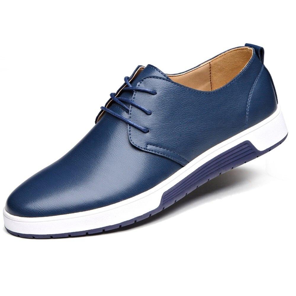 Mode Chaussures Grandes Noir Tailles Mariage Noir bleu jaune Luxe Homme En Décontracté 47 Marron De Pour Hommes Bleu Marque Affaires Cuir 18IZIU