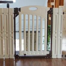 A criança do bebê portão dois-maneira portão cerca de estimação escada cerca isolando válvula