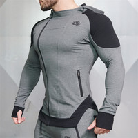2017 New Gyms Body Engineers Fashion Men Hoodies Brand High Quality Men Sweatshirt Hoodie Casual Zipper