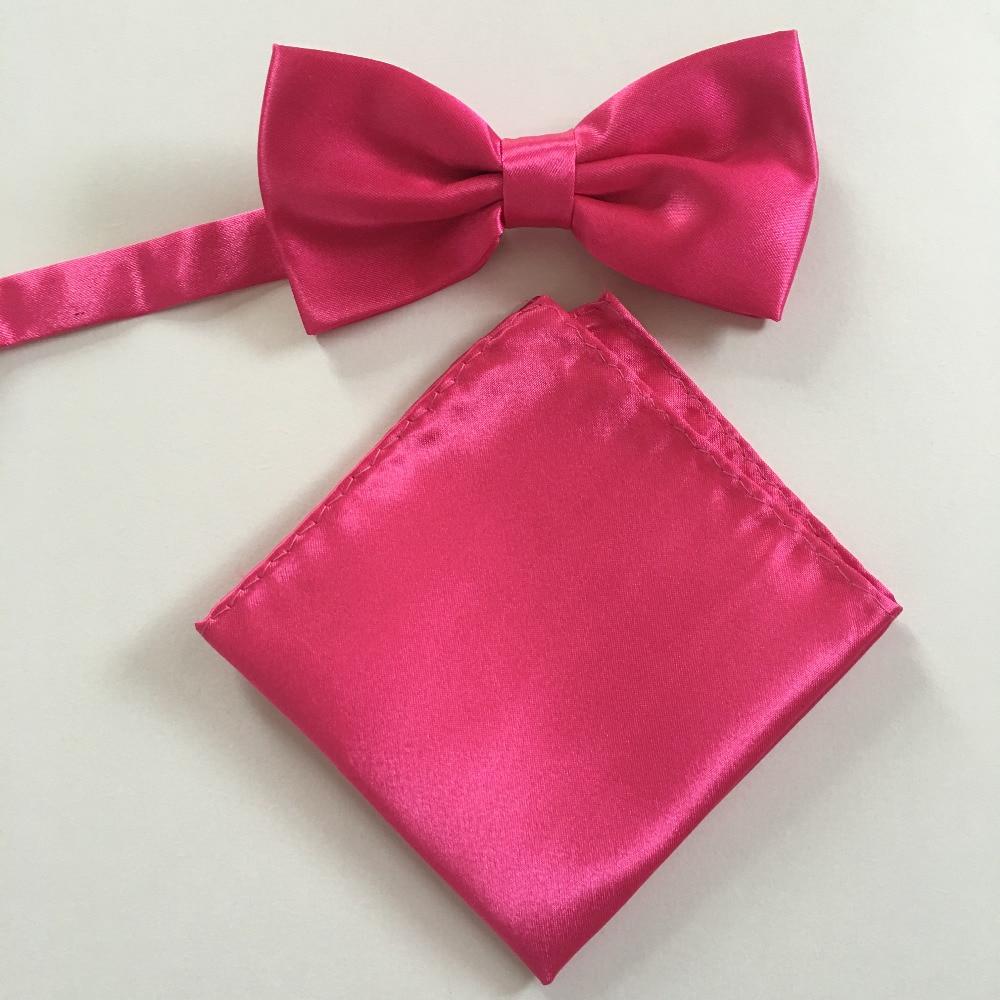 Red Color Fashion Gentleman Men\'s For bow Tie Pocket Square Adjust ...