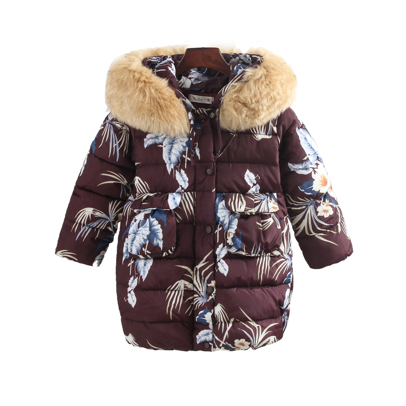 New 2018 winter warm jackets for girls kids fashion floral printed girls parka coats thick fleece warm children girls jackets thicken parka for men 2016 winter fashion design fleece liner men casual coats hooded slim fit keep warm hombre brand jackets
