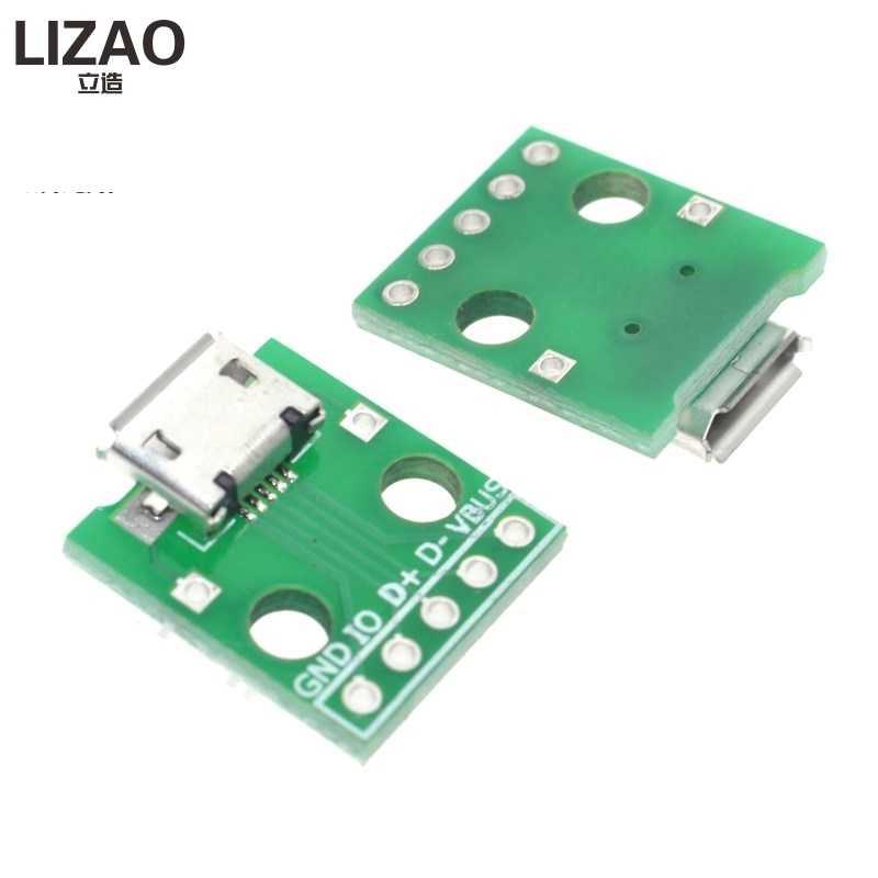 10 шт. MICRO USB к DIP адаптер 5pin гнездовой разъем B Тип печатной платы конвертер pinboard 2,54