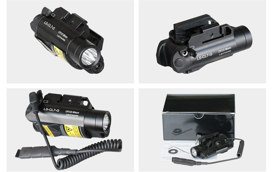 luz liga de alumínio compacto tático arma laser