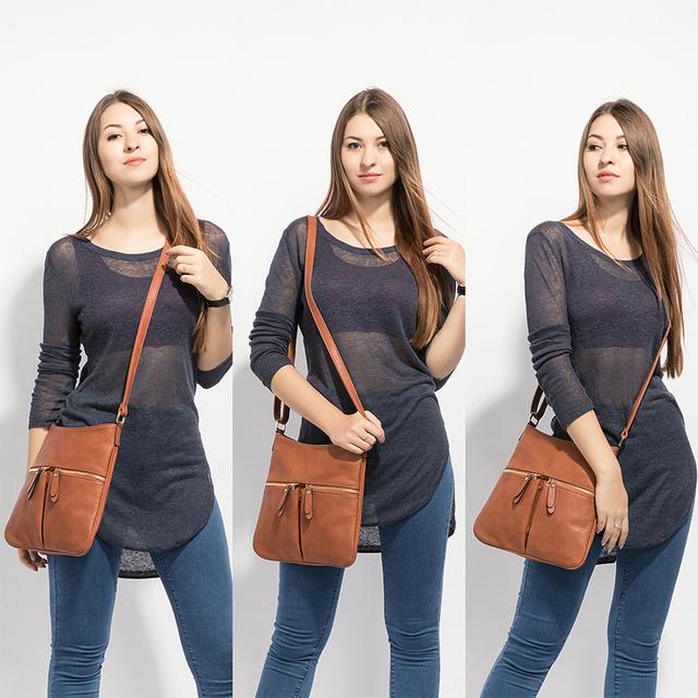 Women Shoulder Messenger Bags Leather Crossbody Purse