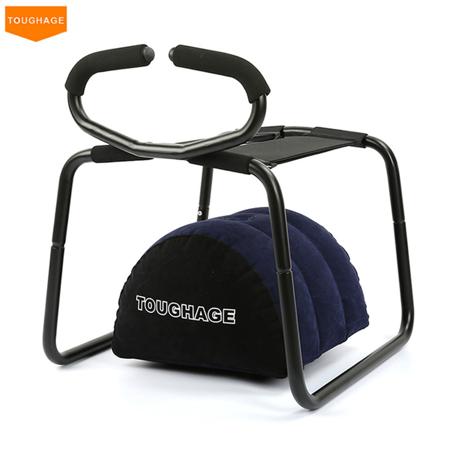 TOUGHAGE Weightless Sex Chair Stool with Inflatable Sex Pillow & Handrail Bondage Set Sex Toys for Couples,Adult Sex Furniture