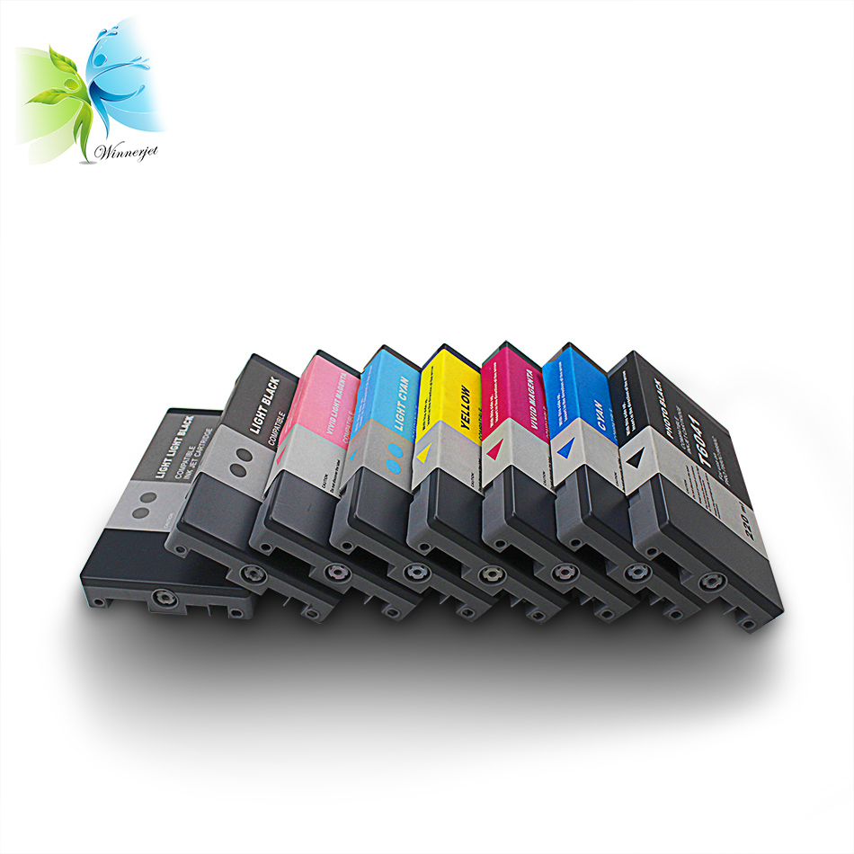 Winnerjet 2 sets 220ml sublimation ink <font><b>cartridge</b></font> for <font><b>Epson</b></font> Stylus Pro <font><b>7800</b></font> 9800 refilled ink <font><b>cartridge</b></font> with chip for <font><b>Epson</b></font> image