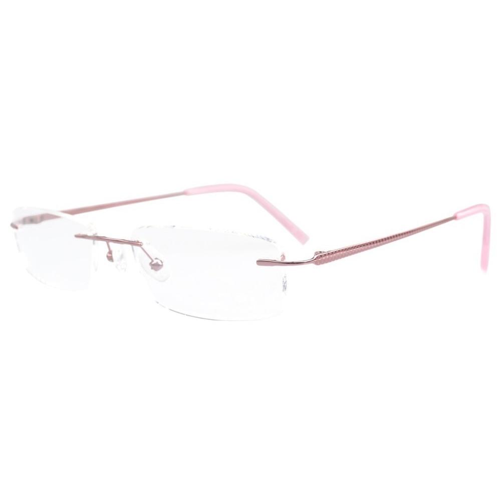 Flq-1411 eyekepper Titanium rimless anteojos ópticos Marcos medio estilo ojo 55aa5d89ba