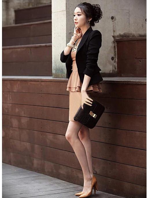 Business Autumn Suit Size Jacket Blaser Spring Fashion Black Femme Attire And Women 1 Ladies Blazer Xxl New Plus 2018 87xqHqp