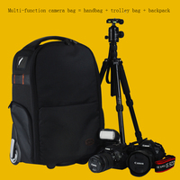Multifunction photography Rolling Luggage package Trolley camera Travel Bag Casual digital camera Suitcase Wheels computer bags