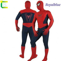 Adult Black Spiderman Costume Halloween Costumes For Men Spandex Carnival SuperHero Cosplay BodySuit Blue Red Black