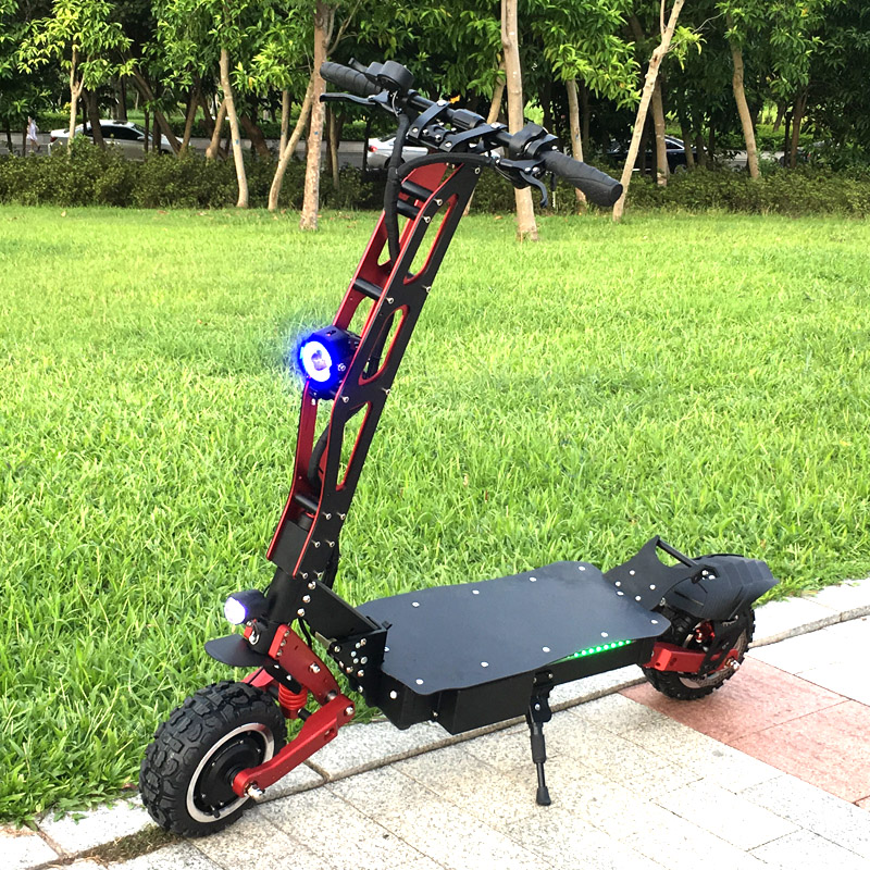 FLJ Newest Design Foldable Electric Scooter for Adults with 3200W motor wheel electric scooter off road fat tire kick Scooter 2
