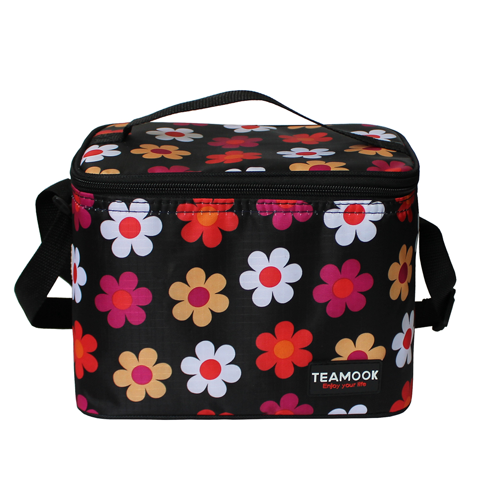 TEAMOOK 5 Pattern Women And Kids Single Shoulder Portable Insulated Lunch Bag Thermal Lunch Box Cooler Bags Picnic Bags 5L