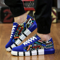 2017 fashion platform shoes height increasing shoes for men Lace-Up Canvas casual shoes  Mixed Colors