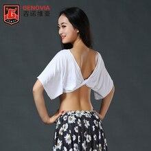 مثير المرأة السيدات الفتيات ملابس رقص الشرقي متوهج كم بلوزة أعلى الصدرية 5 ألوان