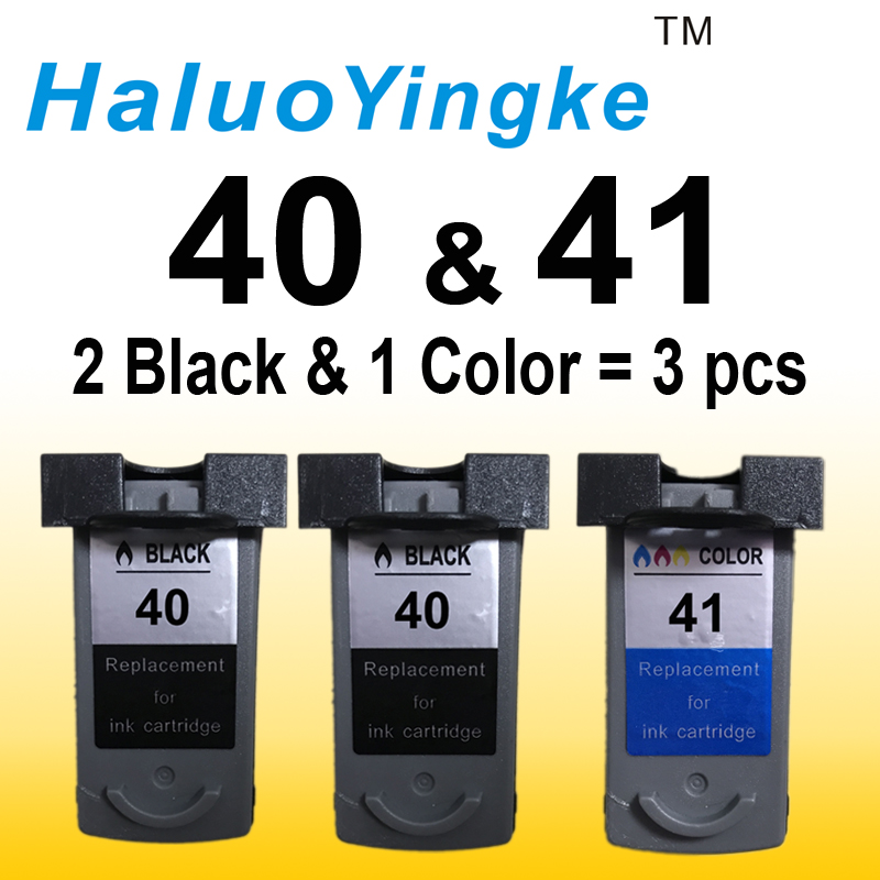 3pcs PG40 CL41 PG 40 CL 41 replacement ink cartridge for printers Canon PIXMA IP1180 1880 1980 2580 2680 MP145 198 228 476 308