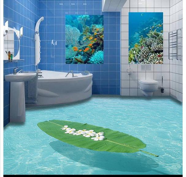 Custom 3d Flooring Mural Wallpapers 3 D Marine Indoor