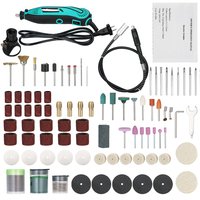 130W Professional Electric Grinder Set 6 Variable Speed Electric Drill Grinding Rotary Tool Polishing Drilling Abrasive Tool