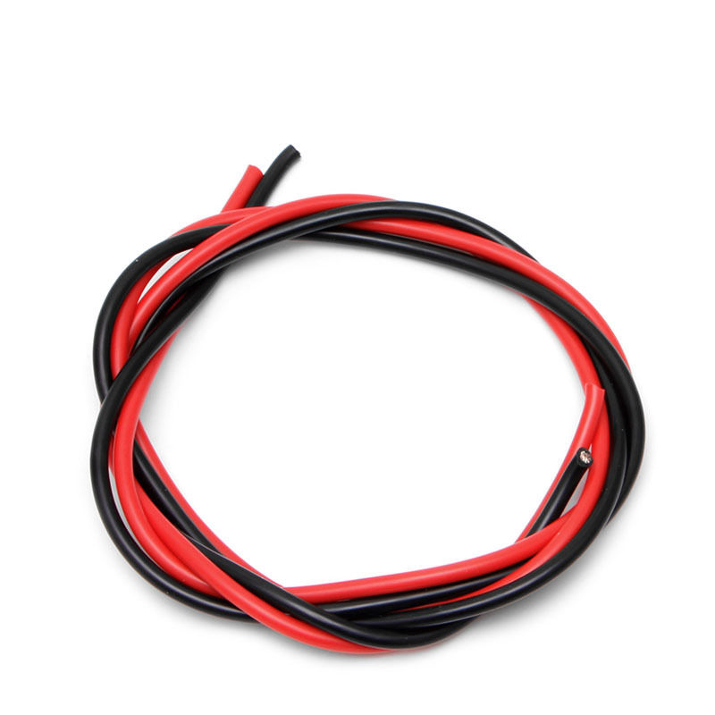 12 AWG 2m Gauge Silicone Wire Flexible Stranded Copper Cables for RC Black Red