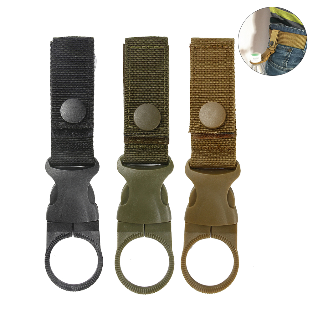 Tactical Molle Webbing Hanger Hook Carabiner Buckle For Water Bottle Backpack Outdoor Hiking Climbing Hunting Accessory