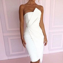 2019 Summer Fashion Leisure Women Sexy Stylish Bodycon Dress Female Off Shoulder Asymmetric Party