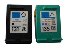 1Set for HP 131 135 ink cartridge for HP 460 5743 5940 5943 6940 Photosmart 2573 2613 8753 PSC 1600 1613 2350 2355 printer ink