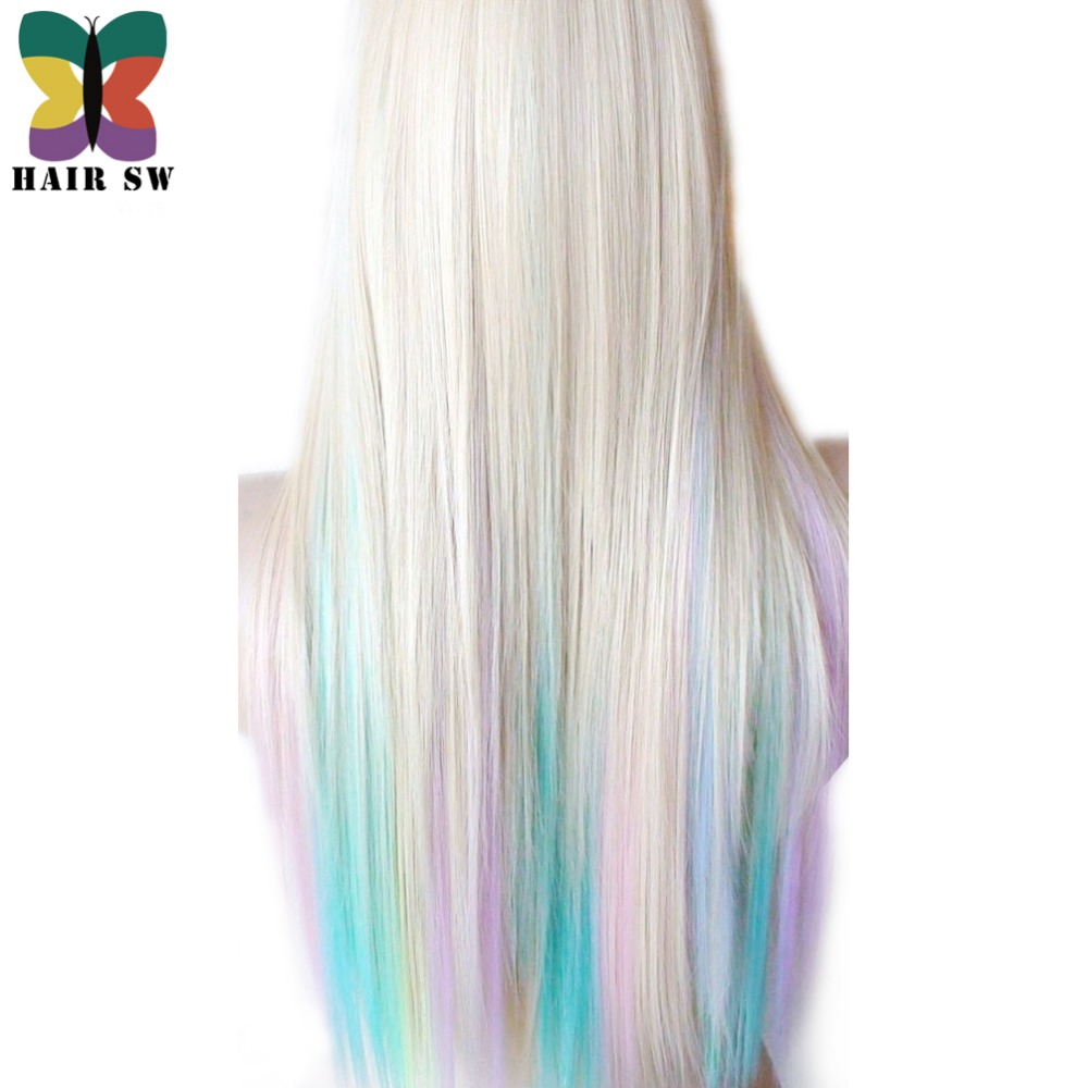 Hair Sw Long Straight Synthetic Hair Fairy Princess Wig Colorful