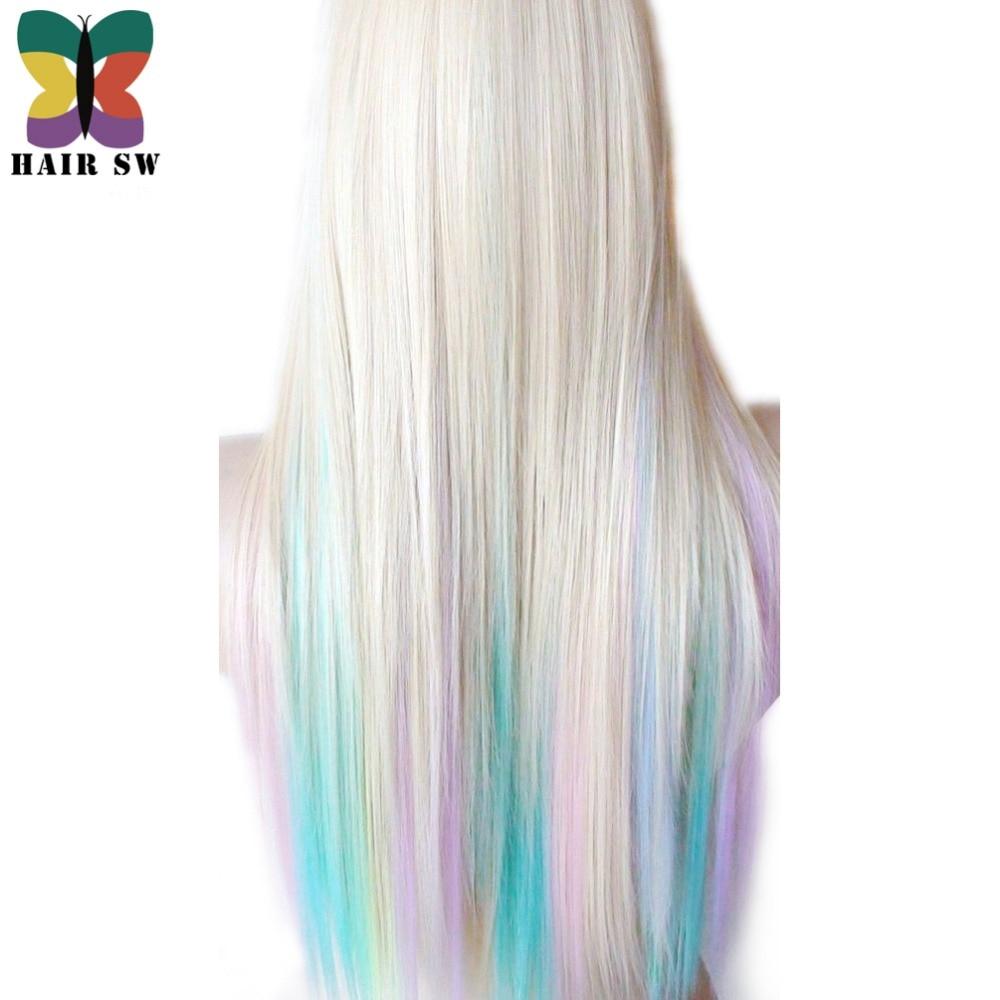 HAIR SW Long Straight Synthetic Hair Fairy prinsessa peruk - Syntetiskt hår - Foto 3