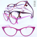 Wholesale 15159 full-rim high classic flexi spring hinge girl vintage cateye shape colorful acetate optical frames new arrival
