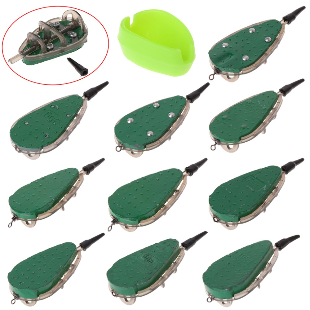 Fishing Feeder With Mould Carp Lead Sinker Method Bait Lure 30g-100g Accessories цена