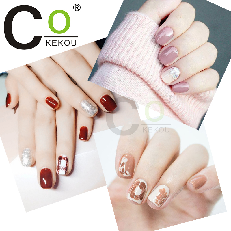 Cokekou 12ml Manicure Coffee Series Nail Gel Phototherapy Chocolate