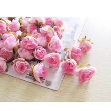5 17 colors silk wedding decorative flowers rose head bud hand made christmas party decoration artifical A038